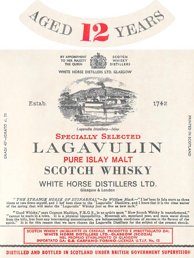 Lagavulin 12-year-old Pure Islay Malt