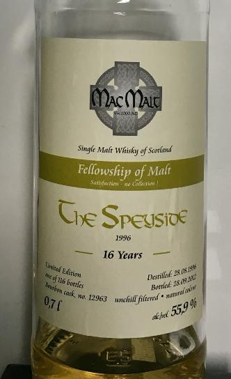 Speyside Distillery 1996 McM