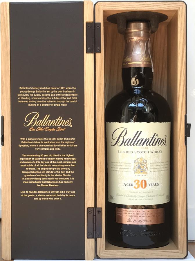 Ballantine S 30 Year Old Ratings And Reviews Whiskybase