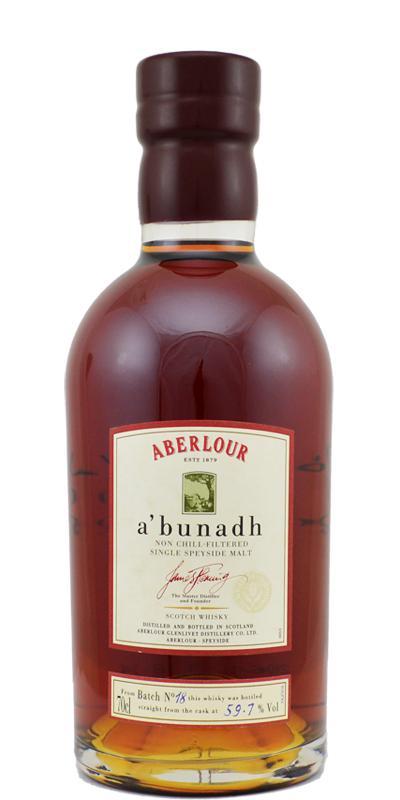 Aberlour A'bunadh batch #18