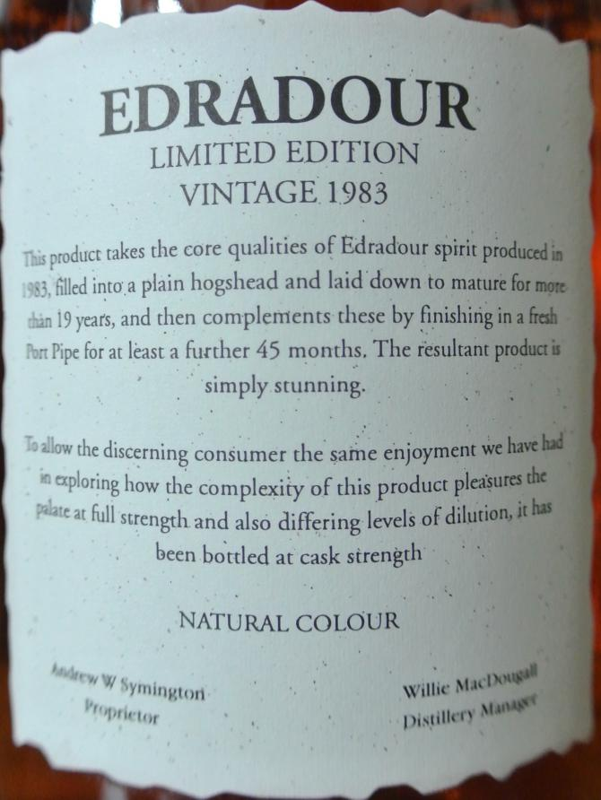 Edradour 1983 Vintage
