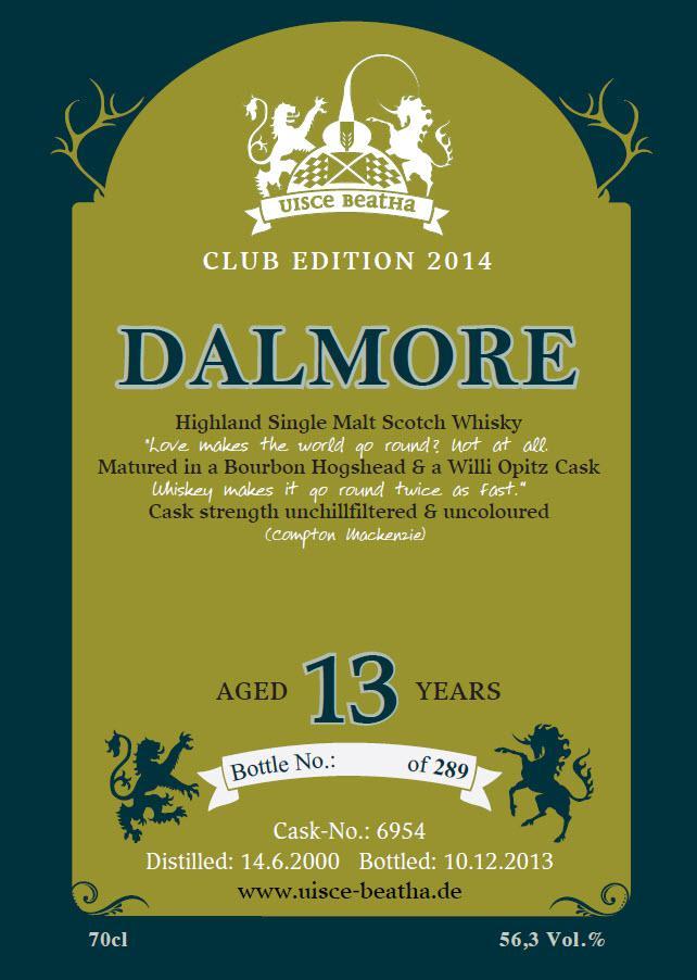 Dalmore 2000 SCC