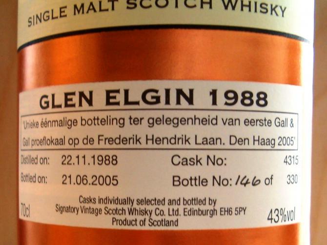 Glen Elgin 1988 SV