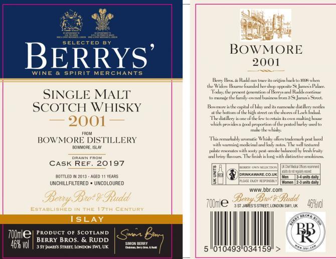 Bowmore 2001 BR