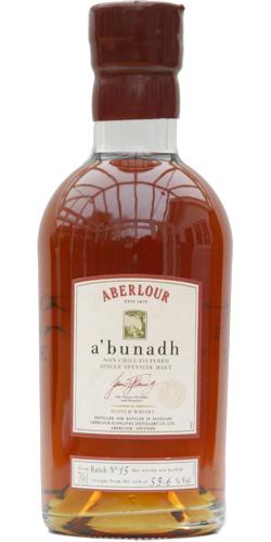 Aberlour A'bunadh batch #15
