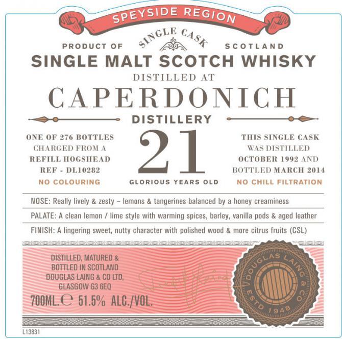 Caperdonich 1992 DL