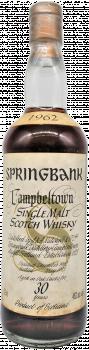 Springbank 1962