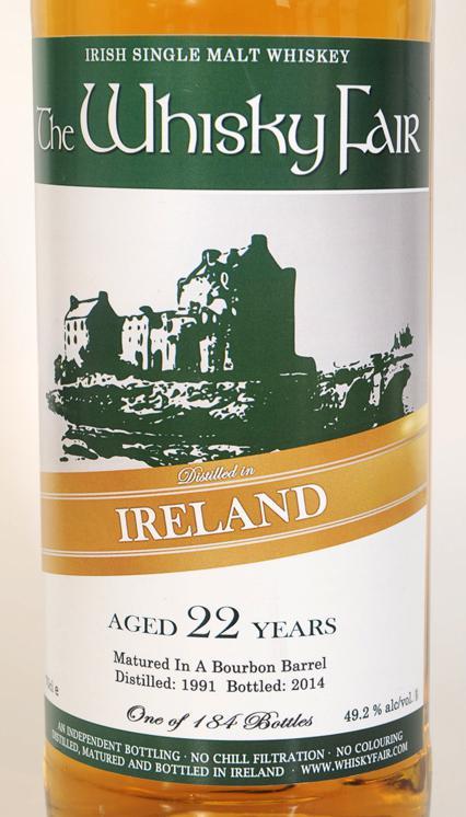 Irish Single Malt Whiskey 1991 WF