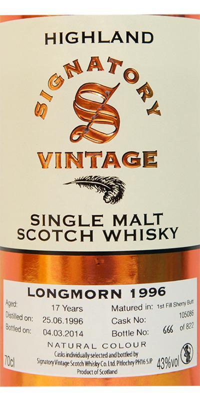 Longmorn 1996 SV