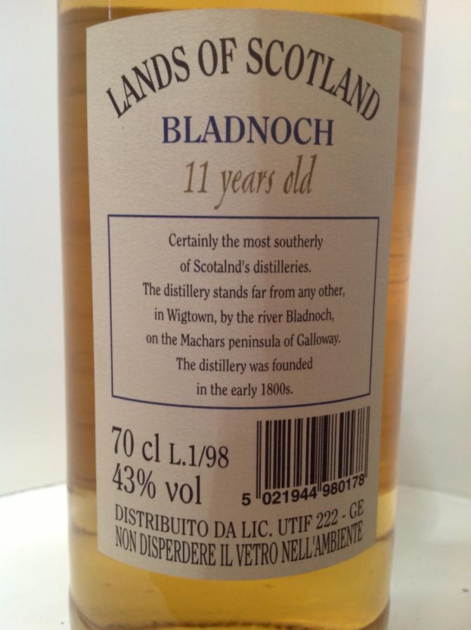 Bladnoch 1986 LoS