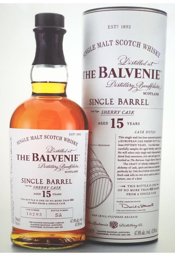 balvenie egyetlen sherry hordóban)