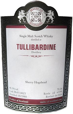 Tullibardine 1980 MoS