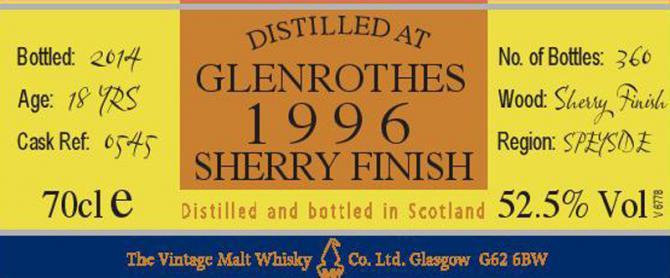 Glenrothes 1996 VM