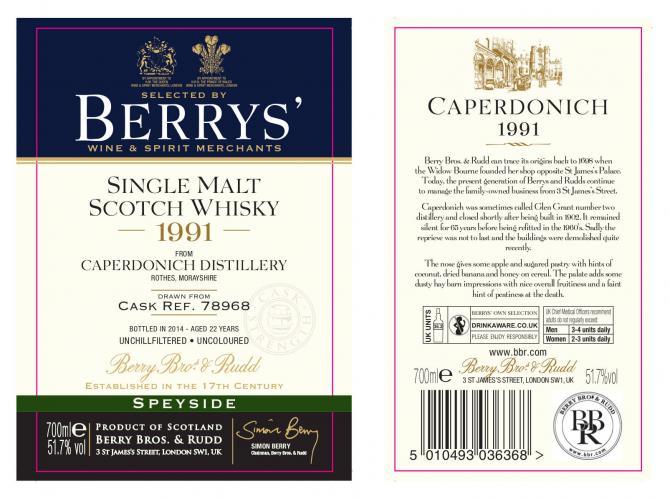 Caperdonich 1991 BR