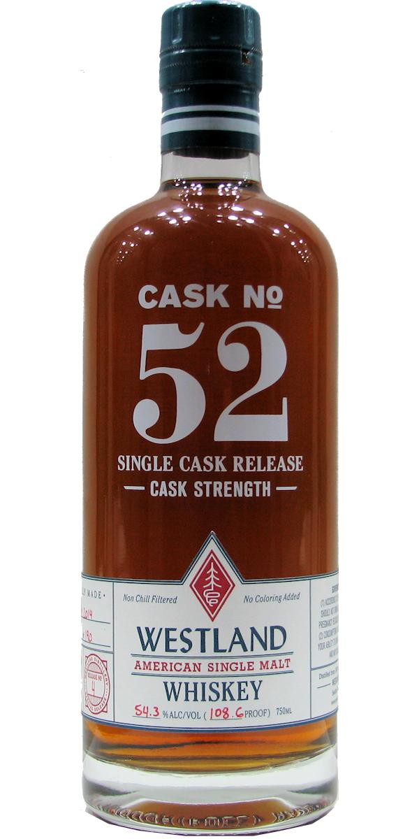 Westland Cask No. 52