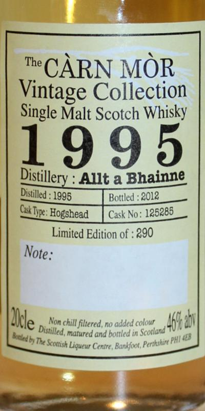 Allt-a-Bhainne 1995 MMcK