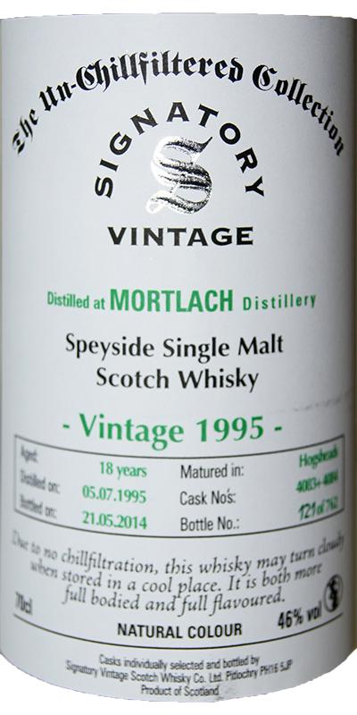 Mortlach 1995 SV