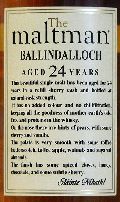 Ballindalloch 1989 MBl