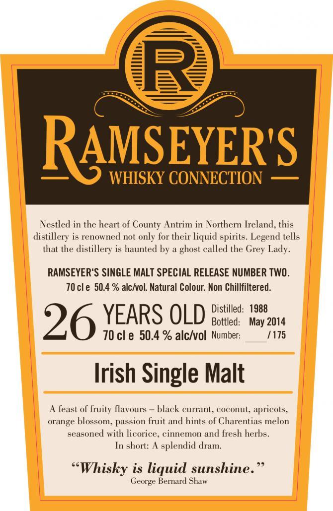 Irish Single Malt 1988 Ram