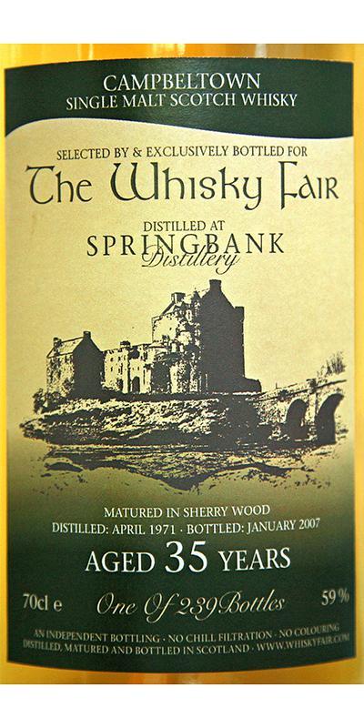 Springbank 1971 WF