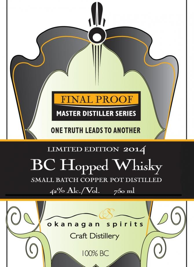 Okanagan Spirits BC Hopped Whisky