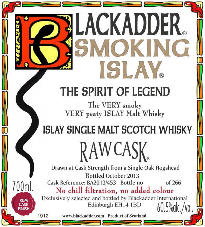 Smoking Islay Bottled 2013 BA