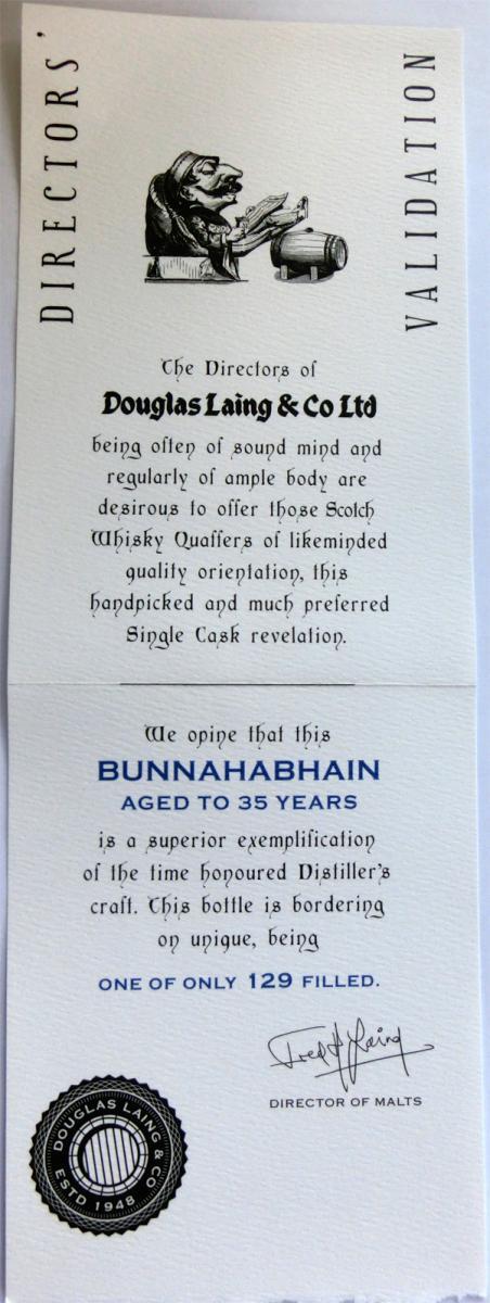 Bunnahabhain 1978 DL