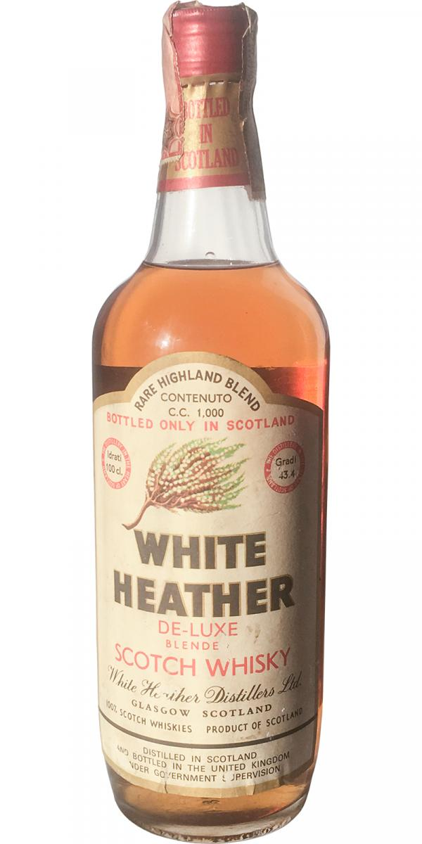 White Heather De-Luxe Blended Scotch Whisky