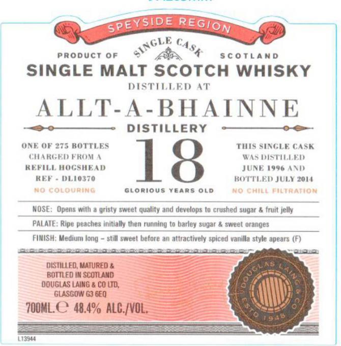 Allt-a-Bhainne 1996 DL