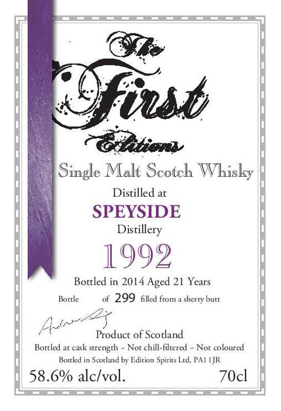 Speyside Distillery 1992 ED