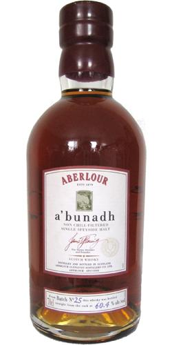 Aberlour A'bunadh batch #25
