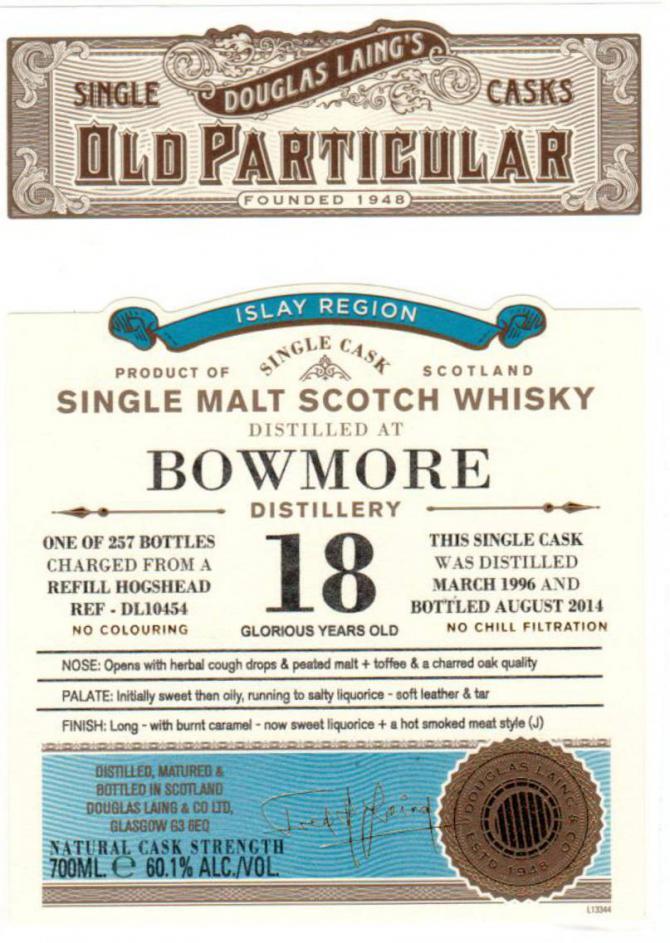 Bowmore 1996 DL