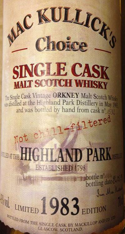 Highland Park 1983 McC