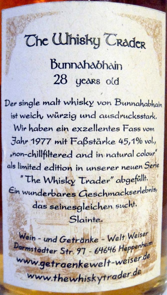 Bunnahabhain 1977 GW
