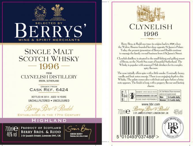 Clynelish 1996 BR