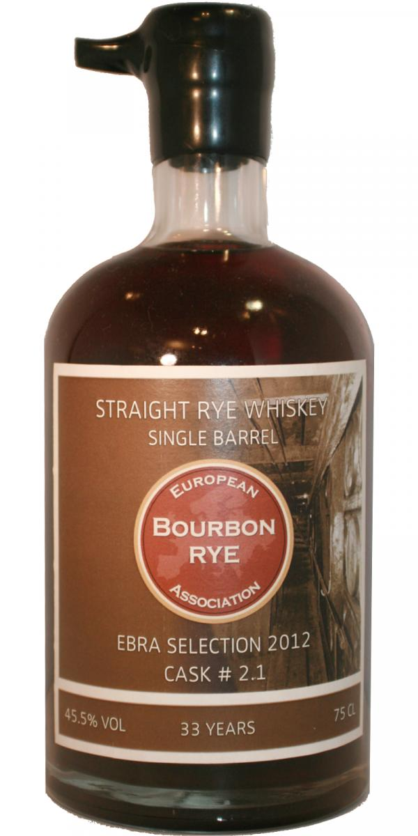 Straight Rye Whiskey 33-year-old EBRA