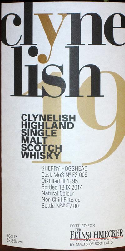 Clynelish 1995 MoS