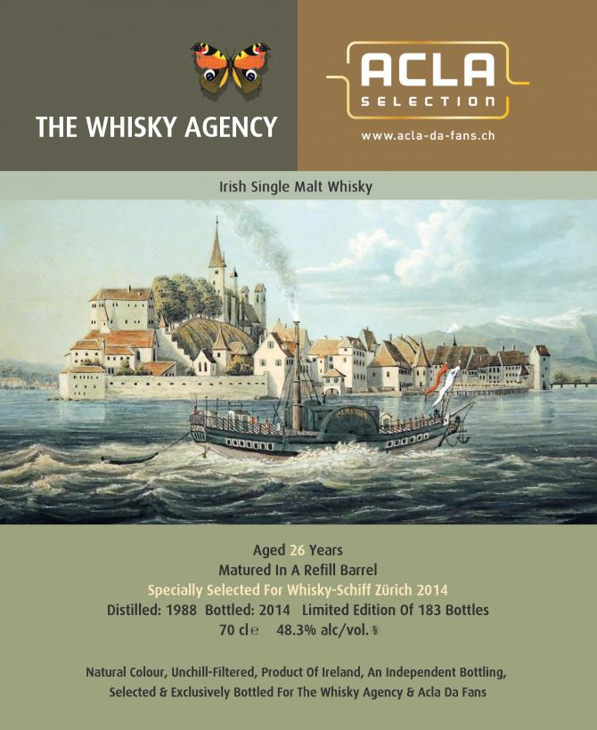 Irish Single Malt Whiskey 1988 TWA