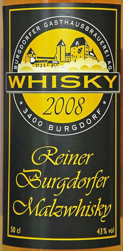 Burgdorfer 2008 Malzwhisky