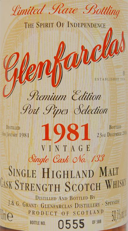 Glenfarclas 1981 Limited Rare Bottling