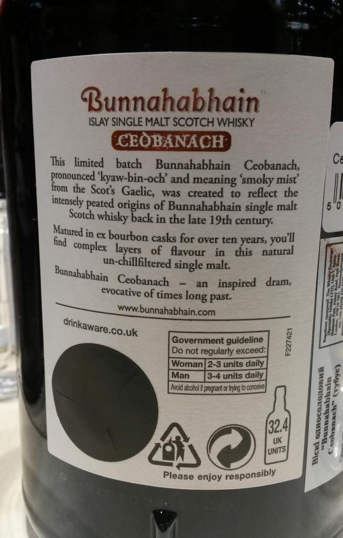 Bunnahabhain Ceòbanach