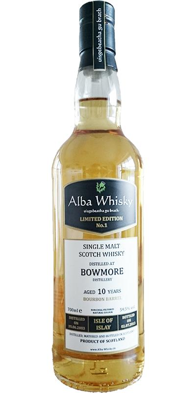 Bowmore 2003 AWS Limited Edition No. 1