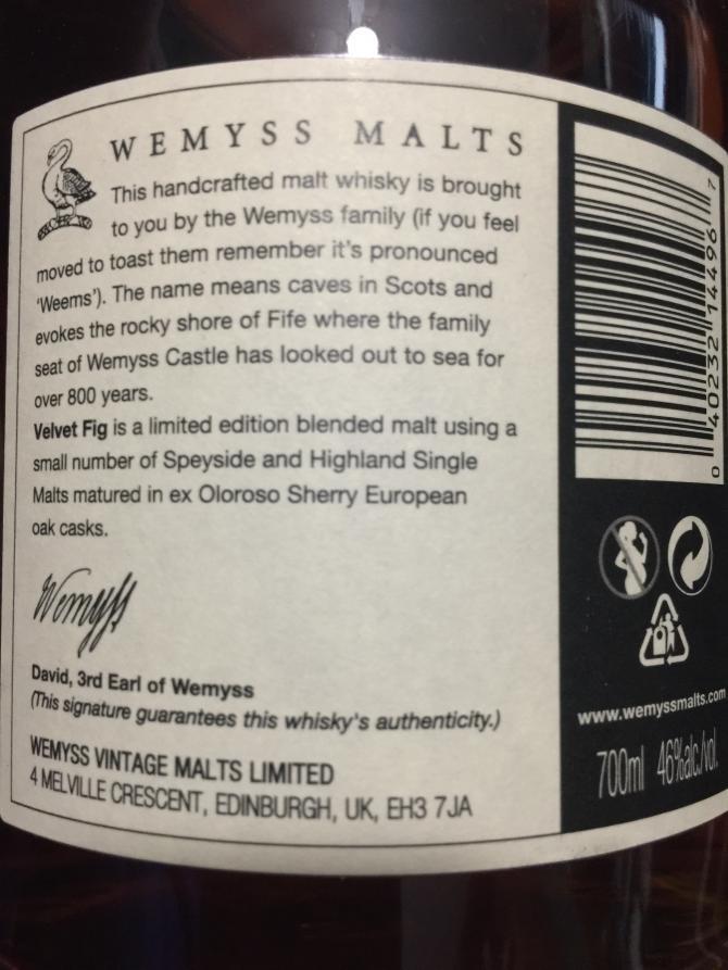 Velvet Fig Blended Malt Scotch Whisky