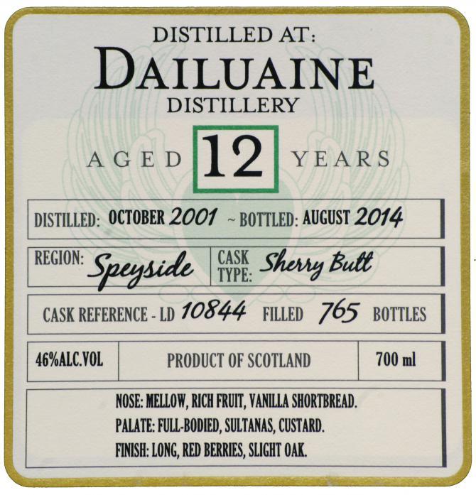 Dailuaine 2001 DoD