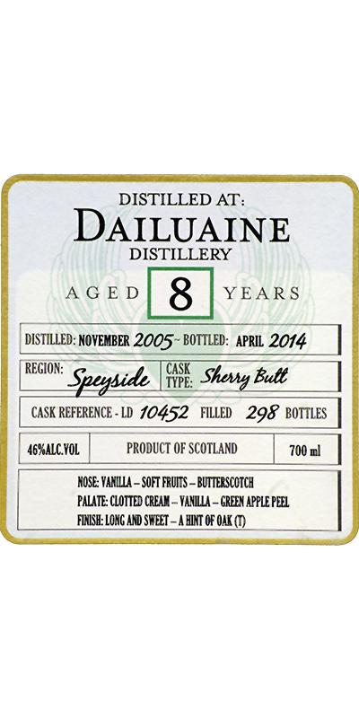 Dailuaine 2005 DoD