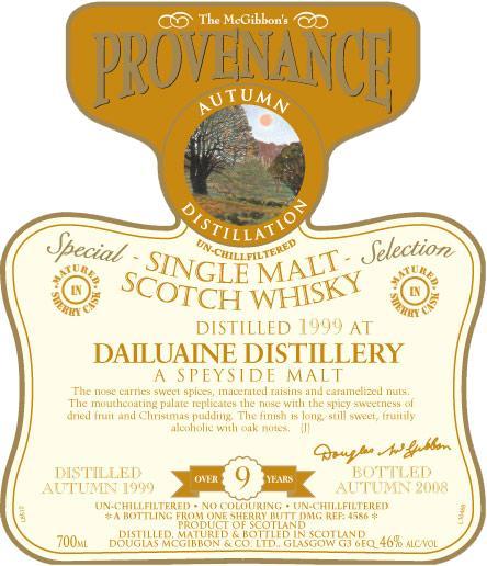 Dailuaine 1999 McG