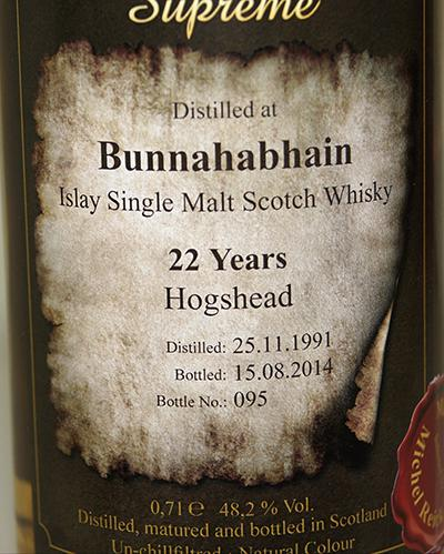 Bunnahabhain 1991 BD