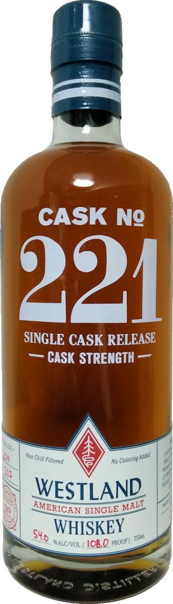 Westland Cask No. 221