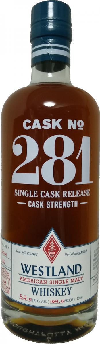 Westland Cask No. 281