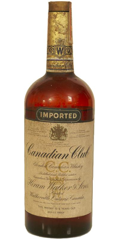 Canadian Club 1957 Imported